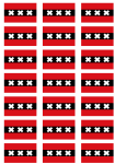 Amsterdam Flag Stickers - 21 per sheet
